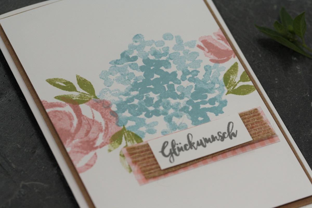 Blumige Sommerkarte