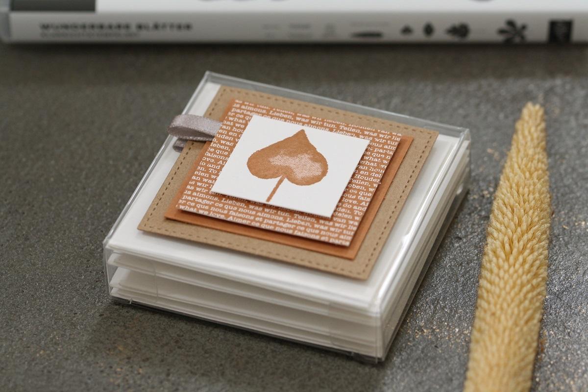 Herbstliches Kartenset