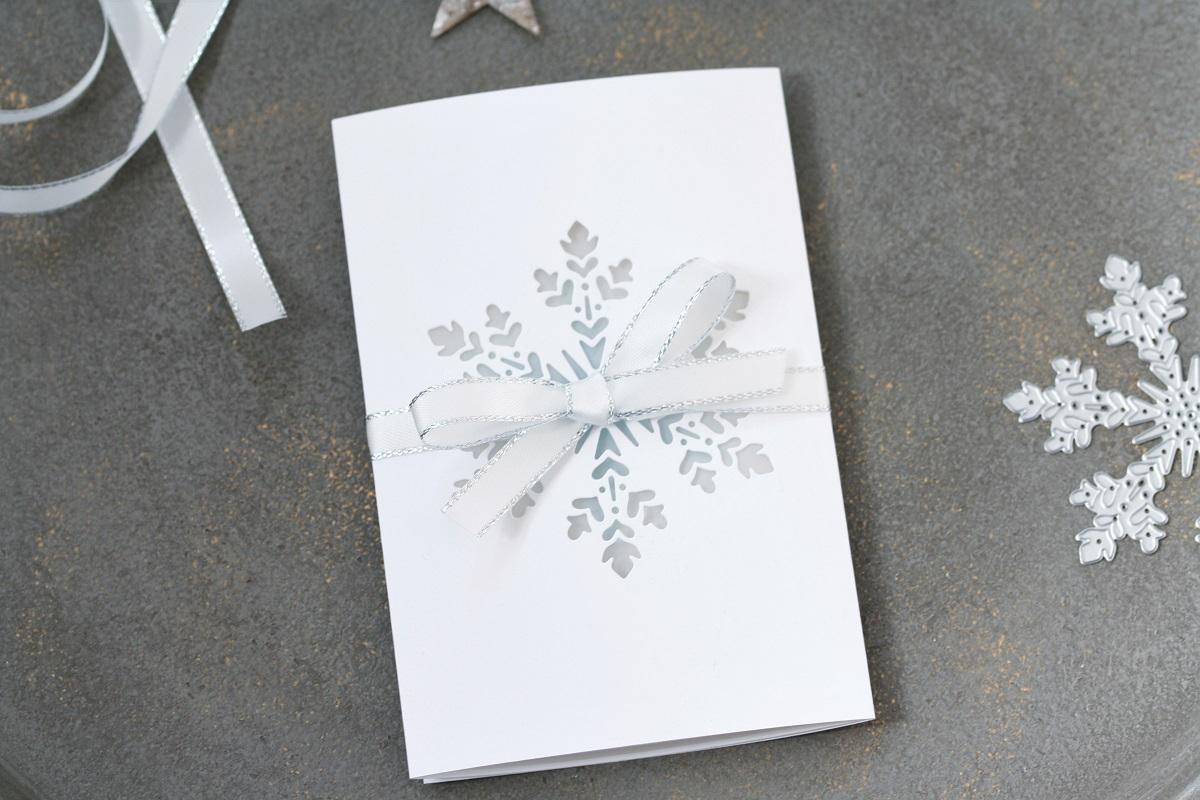 Winterliche Windlichtkarte