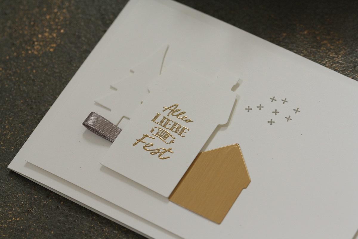 Weihnachtskarte 'Unser Zuhause'