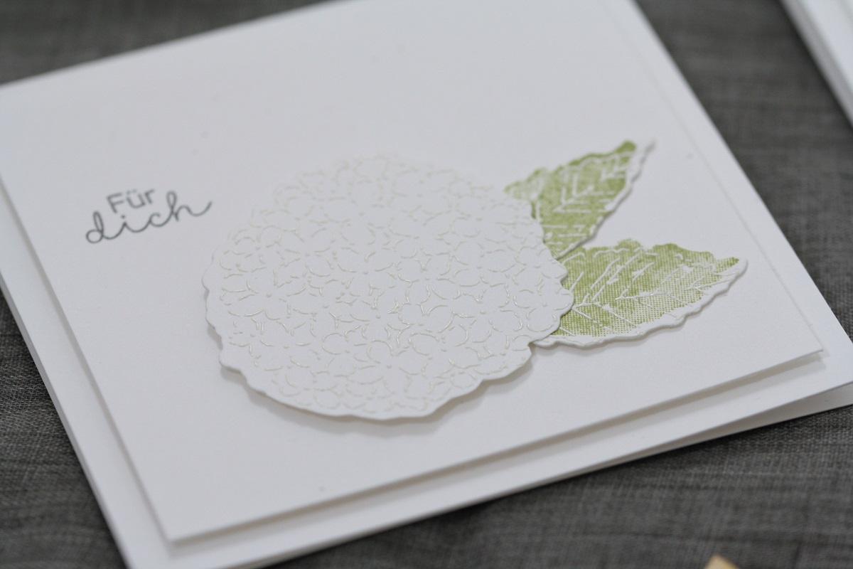 Weiße Hortensien